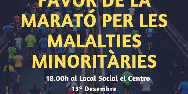 Xocolatada a favor de la Marató de TV3 Per les malalties minoritàries